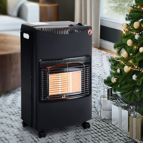 "main image of ""Detachable Butane Gas Heater 4.2kw Indoor Portable Butane Piezo-Electric Warmer, Black"""
