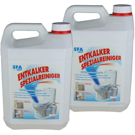 Détartant SFA pour entretien sanitaire en 2 bidon de 5 Litres.
