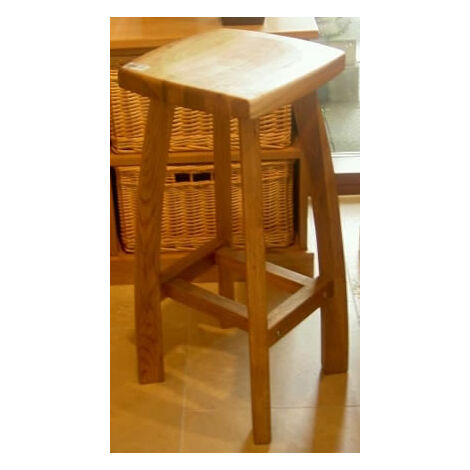 Detay Solid Wood Bar Stool Wooden Oak,Walnut,Grey Frame