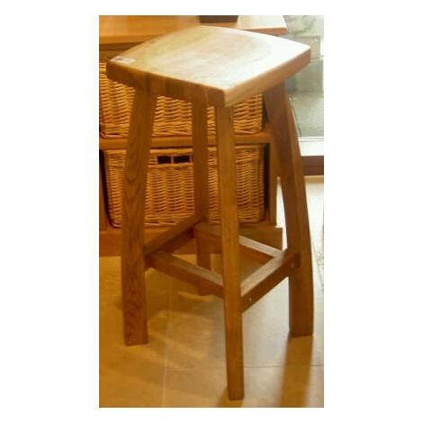 Detay Solid Wood Kitchen Bar Stool Wooden Oak,Walnut,Grey Frame