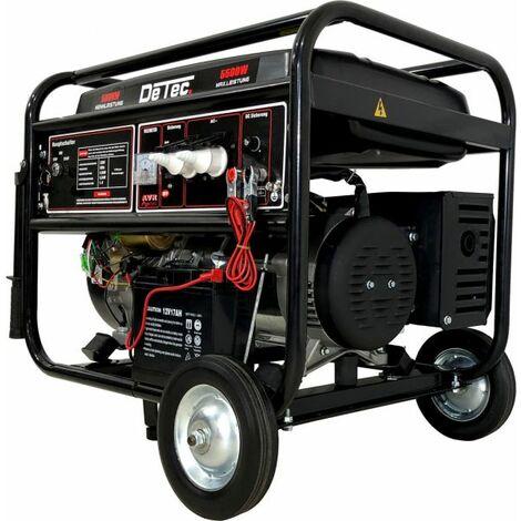 "DeTec. 1-Phasen Benzin Stromerzeuger 5,5 KW Lichtstrom 230V E-Start-""WK2000010008"""