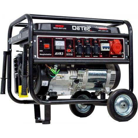 "DeTec. 3-Phasen Benzin Stromerzeuger 5,5 KW Starkstrom 230+400V-""WK2000010003"""