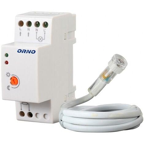 """main image of """"Détecteur crépusculaire rail DIN avec capteur externe - ORNO"""""""