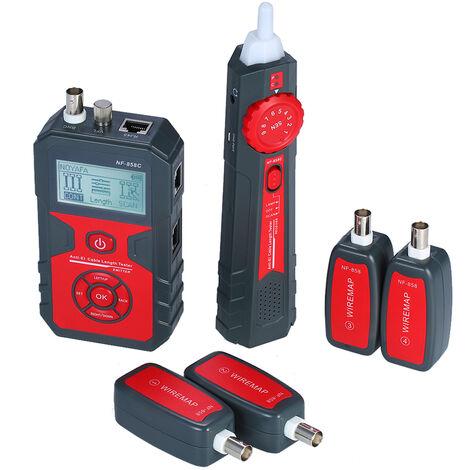 Detecteur de cable reseau multifonctionnel, testeur de cable numerique, livresans prise