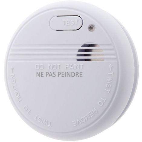 Détecteur de fumée NF - Garantie 5 ans - Autonomie 5 ans - Livré avec pile et accessoires de pose - Otio