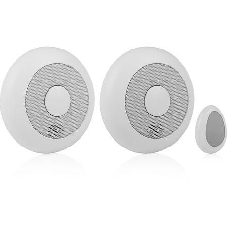 Détecteur de fumée Smartwares RM175RF/2 – 85 dB – Peut être connecté – Télécommande – Pack de 2