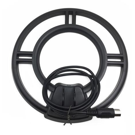 Detecteur de metaux professionnel bobine detecteur de metaux detection souterraine bobine recherche bobine disque + fil detecteur de metaux Accessoires pour instruments de mesure diametre 240 mm