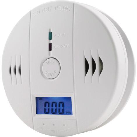 Detecteur De Monoxyde De Carbone, Batterie Capteur Detecteur D'Alarme De Co Exploite Avec Affichage Lcd Numerique