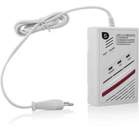 Détecteur de monoxyde de carbone et de gaz Smartwares RM337 – 2-en-1 – Capteur d'une durée de vie de 5 ans – 85 dB