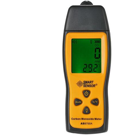 Detecteur de monoxyde de carbone Xima Detecteur de gaz CO de gaz toxique Alarme sonore et lumineuse AS8700A Livraison sans batterie