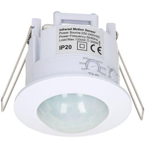 """main image of """"Détecteur de mouvement LED spot encastré blanc en PVC 360°/6m IP20 1200 - 3000 W"""""""