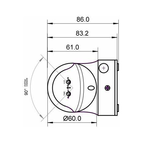 Détecteur de mouvements PIR Goobay 95174 pour lextérieur en saillie 180 ° relais blanc IP44