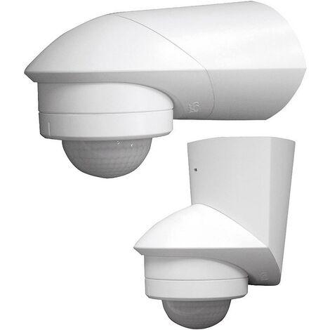 Détecteur de mouvements PIR Grothe 94532 intérieure, extérieure montage apparent (en saillie) 360 ° relais blanc IP55