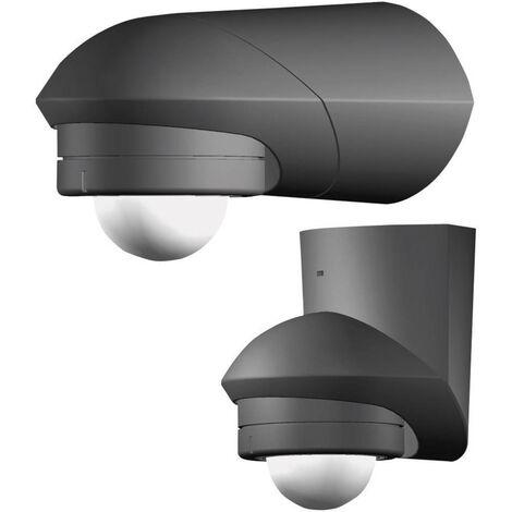 Détecteur de mouvements PIR Grothe 94533 intérieure, extérieure montage apparent (en saillie) 120 ° relais noir IP55