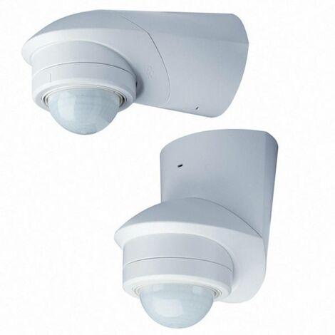 Détecteur de mouvements PIR Grothe 94537 intérieure, extérieure montage apparent (en saillie) 360 ° relais blanc IP55