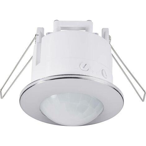 Détecteur de mouvements PIR Renkforce 1289331 intérieure plafond, encastré 360 ° relais chrome IP20