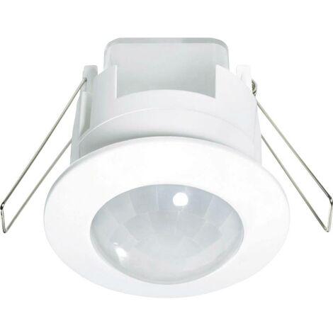 Détecteur de mouvements PIR Renkforce 1296307 intérieure plafond, encastré 360 ° relais blanc IP20