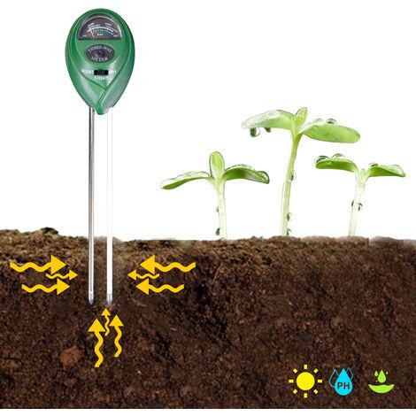 Detecteur de pH, d'humidite et d'eclairage du sol trois en un