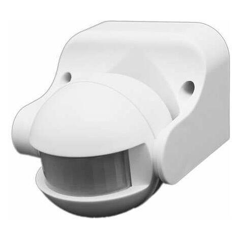 Détecteur de présence Orientable IP44 Blanc D:12m 180° Lux:10-2000