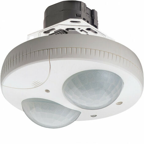 Détecteur de présence plafond semi-encastré 1-10V 360° blanc (52368)