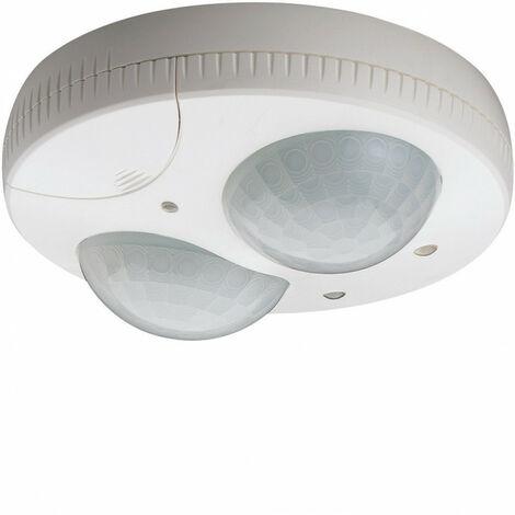 Détecteur de présence plafond semi-encastré 1 voie 360° blanc (52366)