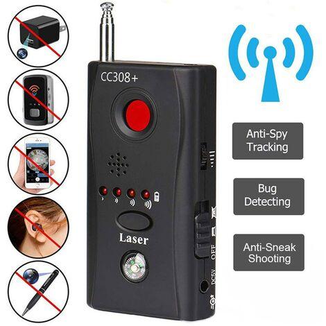 Détecteur de Signal d'objectif de caméra sans fil multifonction CC308 + détecteur de Signal Radio caméra pleine portée WiFi RF GSM détecteur de dispositif r30