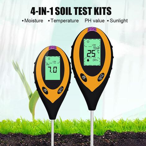 Detecteur de sol quatre en un, testeur electronique de pH du sol, acide-base, machine unique sans batterie