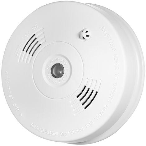 Detecteur D'Incendie De Fumee Sans Fil 433Mhz, Capteur De Temperature Photoelectronique