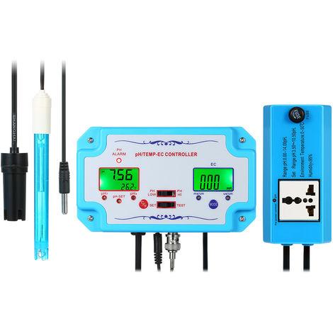 Detector de calidad del agua 3 en 1 pH/CE/TEMP, controlador de pH,14.00pH / 1999us/cm 19.99ms/cm(no se puede enviar a Baleares)