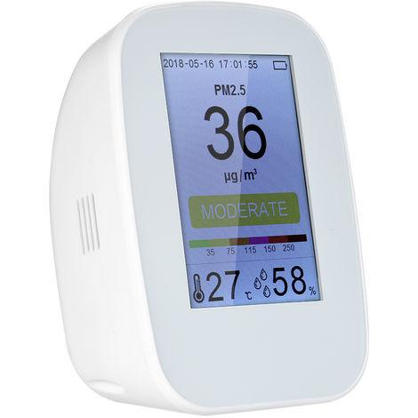 Detector de calidad del aire, monitor de gas digital PM2.5 para interiores / exteriores