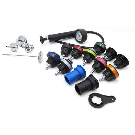 Detector de fugas de radiador 18pcs, probador del sistema de refrigeracion del coche