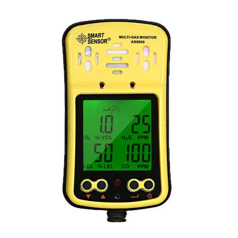 Detector de gas cuatro en uno, alarma de gas toxico, alarma de vibracion de sonido y luz