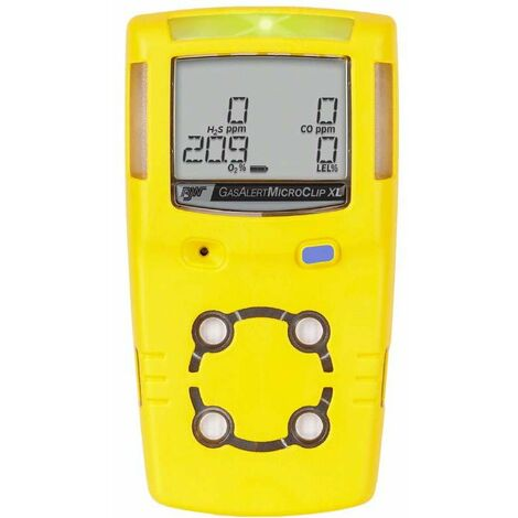 Detector de Gas Portátil Gas Alert MicroClipXL (H2S, CO, O2, %LEL)