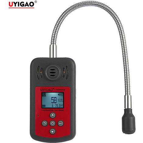 Detector de gases combustibles, probador de fugas de gas, con alarma de luz y sonido