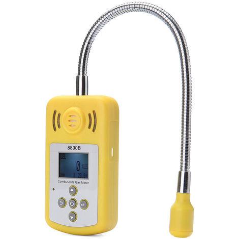 Detector de gases inflamables, localizador de fugas de gas, alarma de luz y sonido