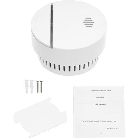 Detector de humo inalambrico, alarma contra incendios fotoelectrico, 1pcs
