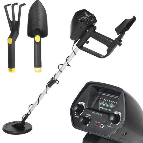 Detector de metales subterraneo para ninos KKmoon, Treasure Hunter Tracker,Con rastrillo y pala