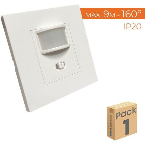 Detector de Movimiento de Pared Empotrable 160º Compatible LED A++