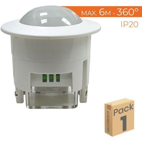 Detector de Movimiento Techo Empotrable 360º Compatible LED A++