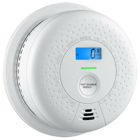 Detector Humo Y Monoxido Carbono Co Autonomo Sc01 con Alarma, pantalla LCD e indicador luminoso