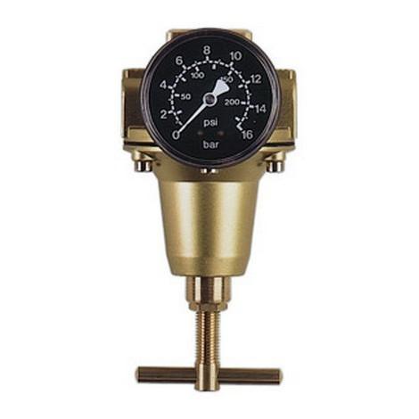 Détendeur, Filetage de raccordement : G 3/4 pouces, Débit à 6 bar 300 m³/h, Larg. : nominale DN 20, Hauteur : 186 mm