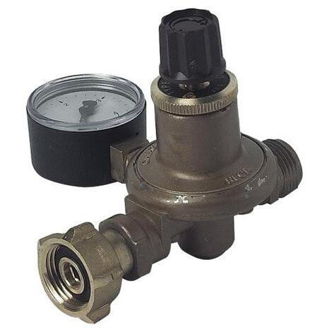 """main image of """"Détendeur haute pression reglable pour gaz propane - manomètre horizontal"""""""