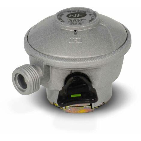 Détendeur NF pour consigne de gaz Quick-On Butane - 29Mbar sortie M20x1,5mm, avec sécurité, pour ELFI, CALYPSO, MALICE, TWINY, CLAIRGAZ, SHESHA