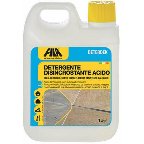 Deterdek Disincrostante Acido per Pavimenti in Cotto Gres Ceramica Pietra Fila