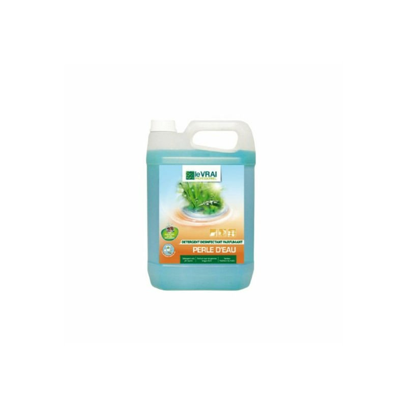 Détergent parfumant pour élevage d'animaux domestiques Perle d'Eau 5 litres senteur Fraîcheur du Matin - Le Vrai Professionnel