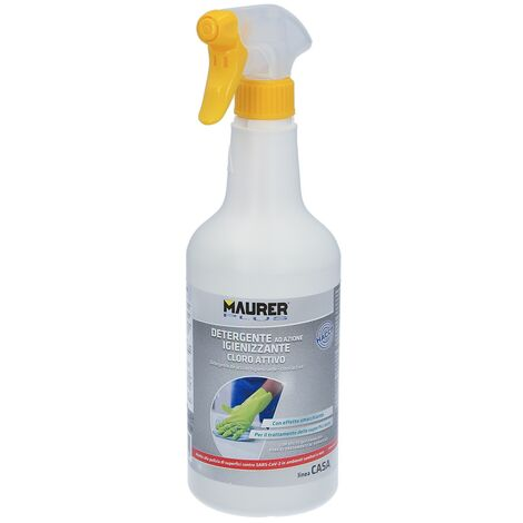 Detergente cloro activo, formato 750ml, higienizante, desinfectante,