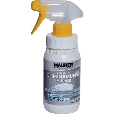 Detergente Murale Anti Muffa MAURER Elimina Sanifica Muffe Muschi Muri Spray 1 Litro