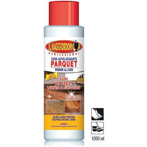 Detergente pavimento KS160 legno parquet autolucidante profumato trattamento antisdrucciolo 1Lt