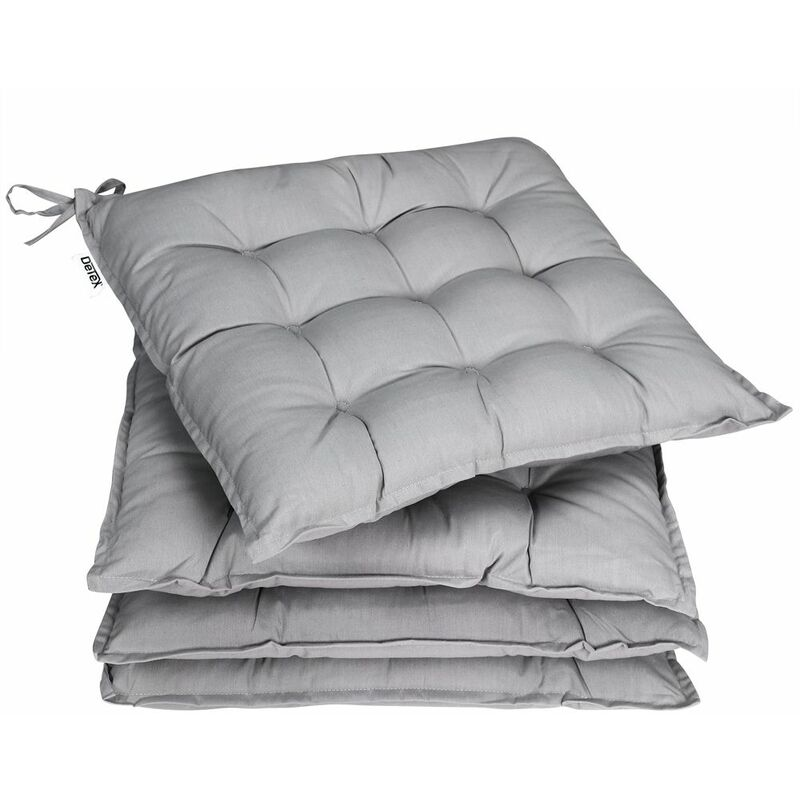 Detex 4x cojines para sillas bandas efecto viscoso interior exterior almohadilla de silla almohada almohada de silla acolchado