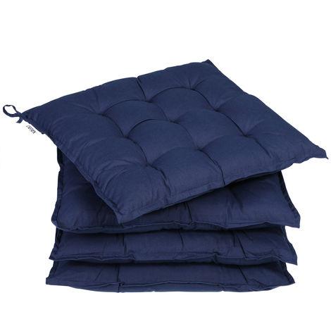 Detex 4x Seat Cushion Chair Pads Indoor Outdoor Memory Foam Visco Elastic Weatherproof